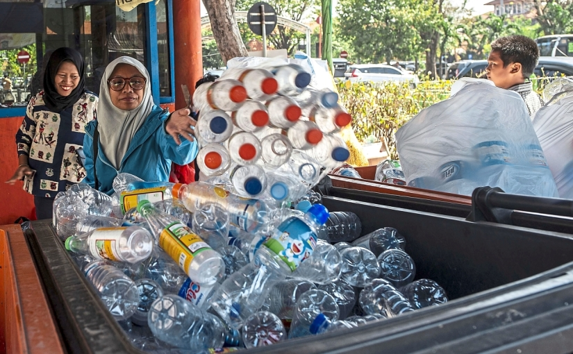 Plastic Bottles to Pay for Bus Ticket in Indonesia